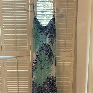 Calvin Klein palm print maxi dress